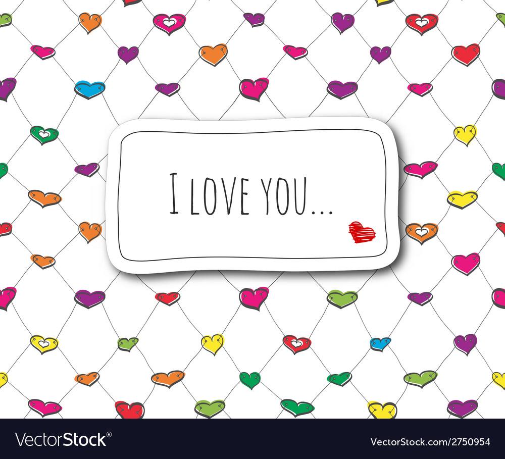 Sketch love card vector | Price: 1 Credit (USD $1)