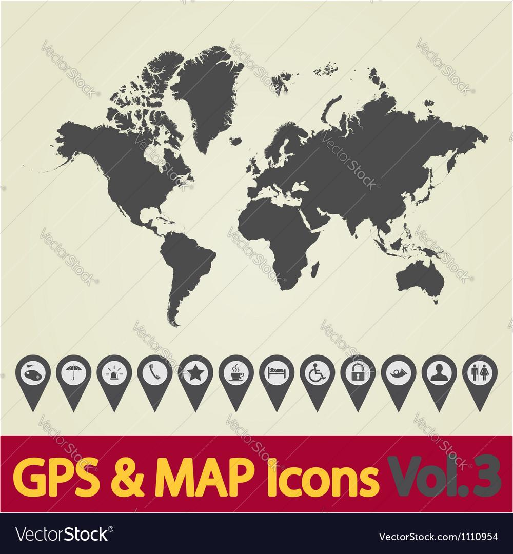 World map icon vector | Price: 1 Credit (USD $1)