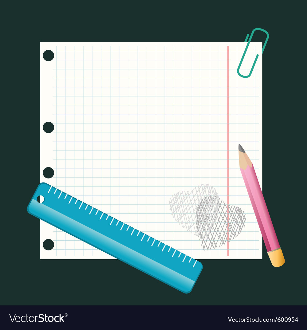 Writing pad vector | Price: 1 Credit (USD $1)