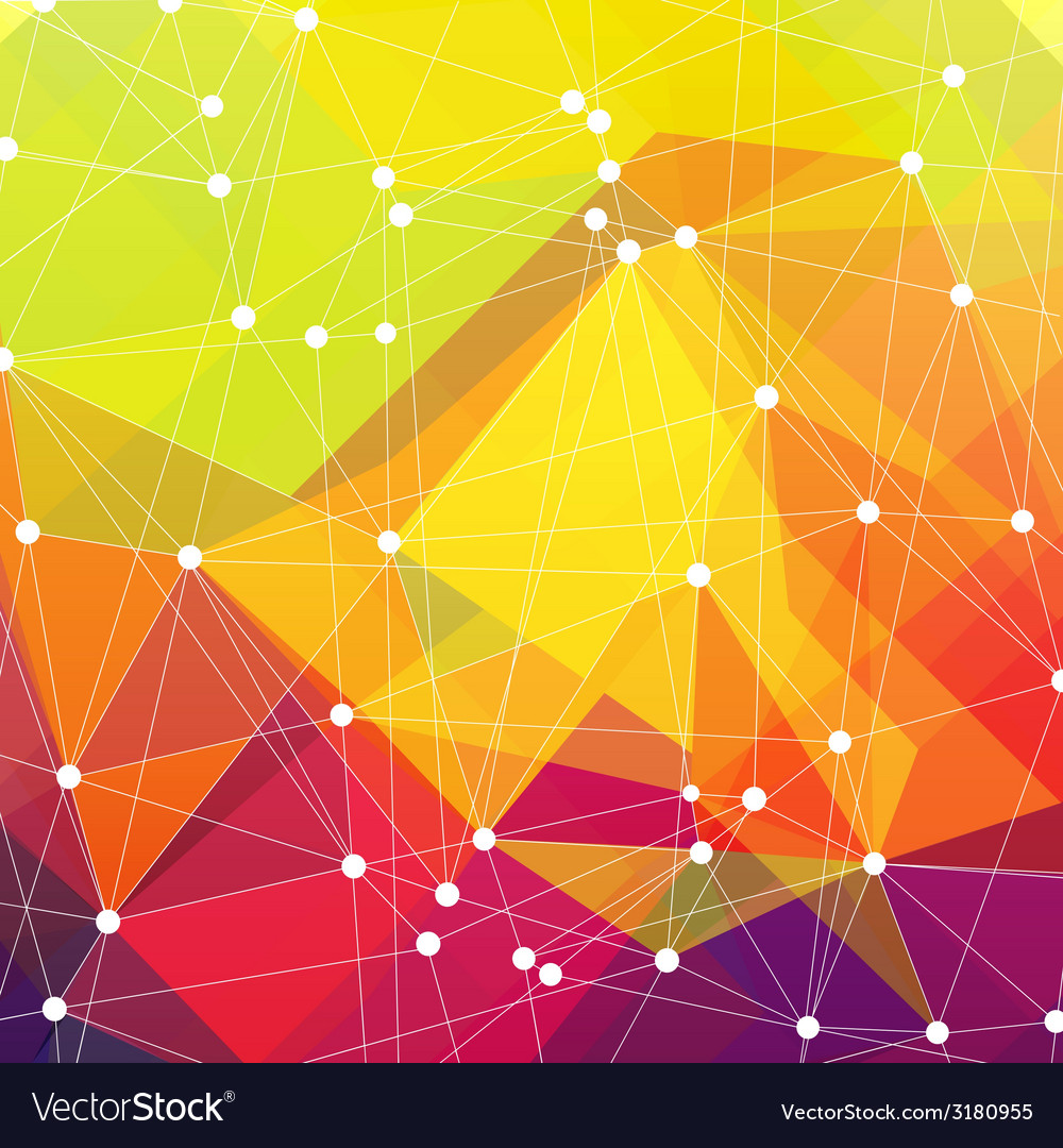 Abstract colorful triangles vector | Price: 1 Credit (USD $1)