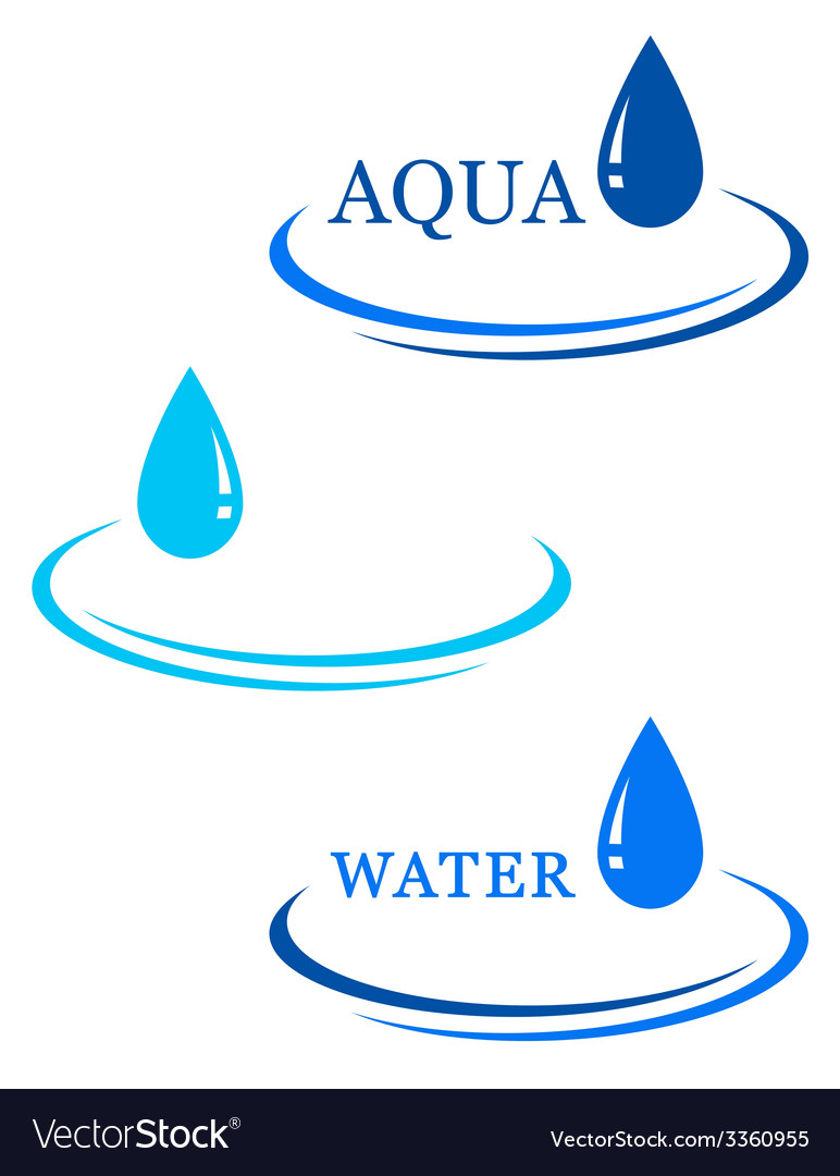 Background with water drop sign vector   Price: 1 Credit (USD $1)
