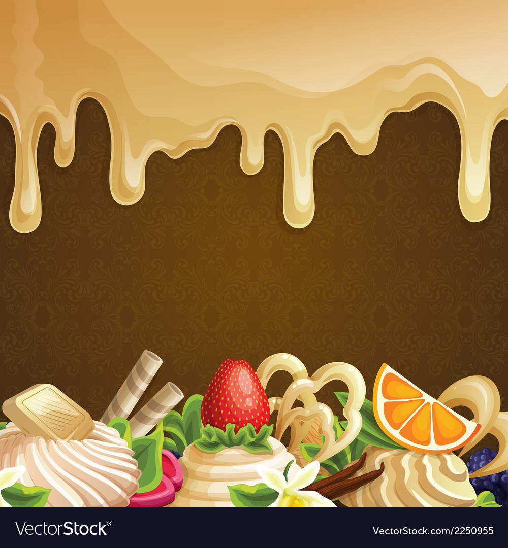 Caramel sweets background vector | Price: 1 Credit (USD $1)
