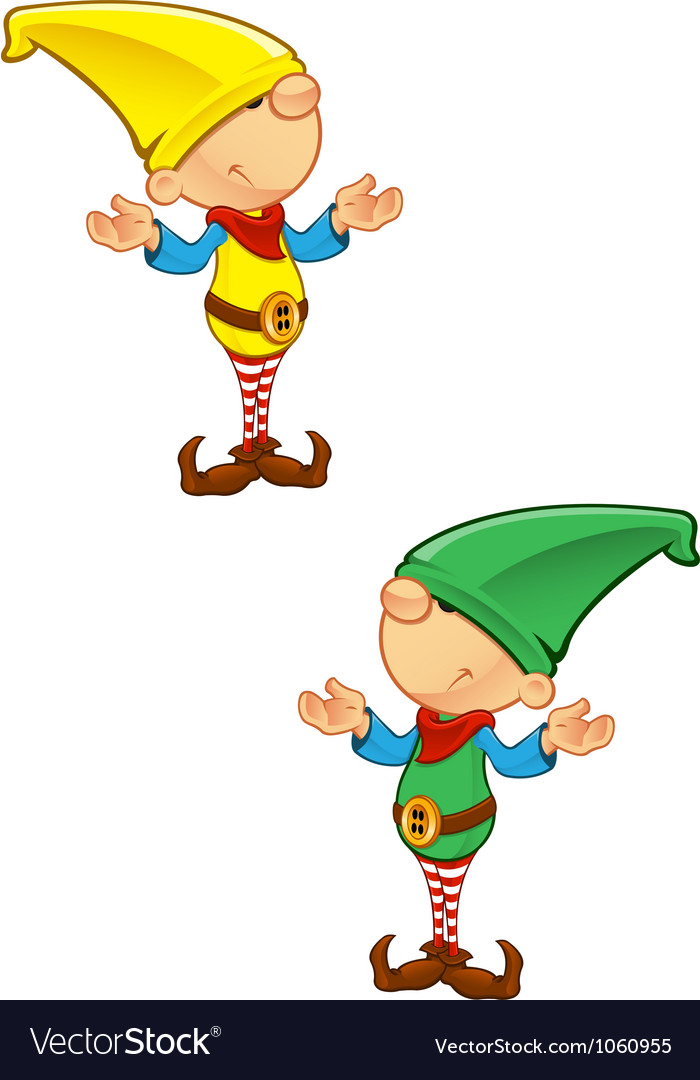 Elf mascot confused vector | Price: 1 Credit (USD $1)