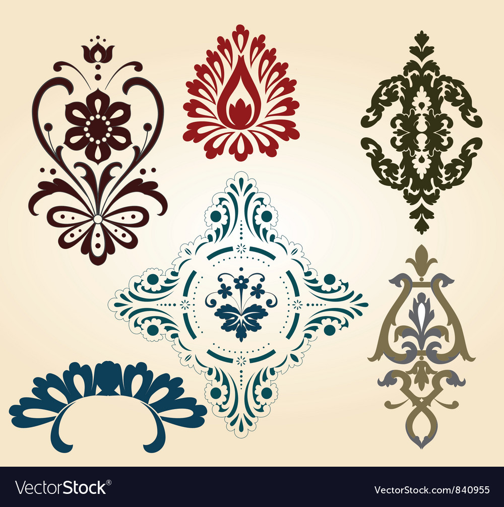 Floral shapes vector | Price: 1 Credit (USD $1)