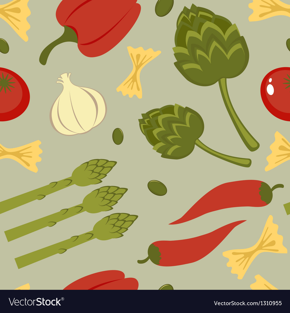 Italian food seamless background vector | Price: 1 Credit (USD $1)