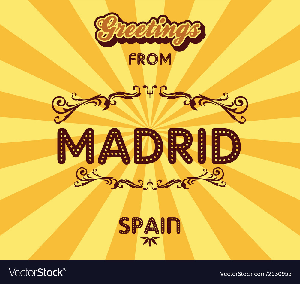Madrid background vector | Price: 1 Credit (USD $1)
