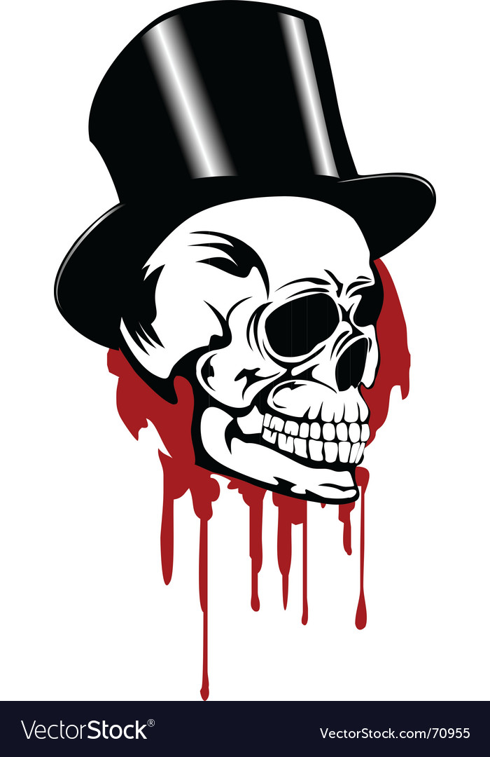 Skull and hat vector | Price:  Credit (USD $)