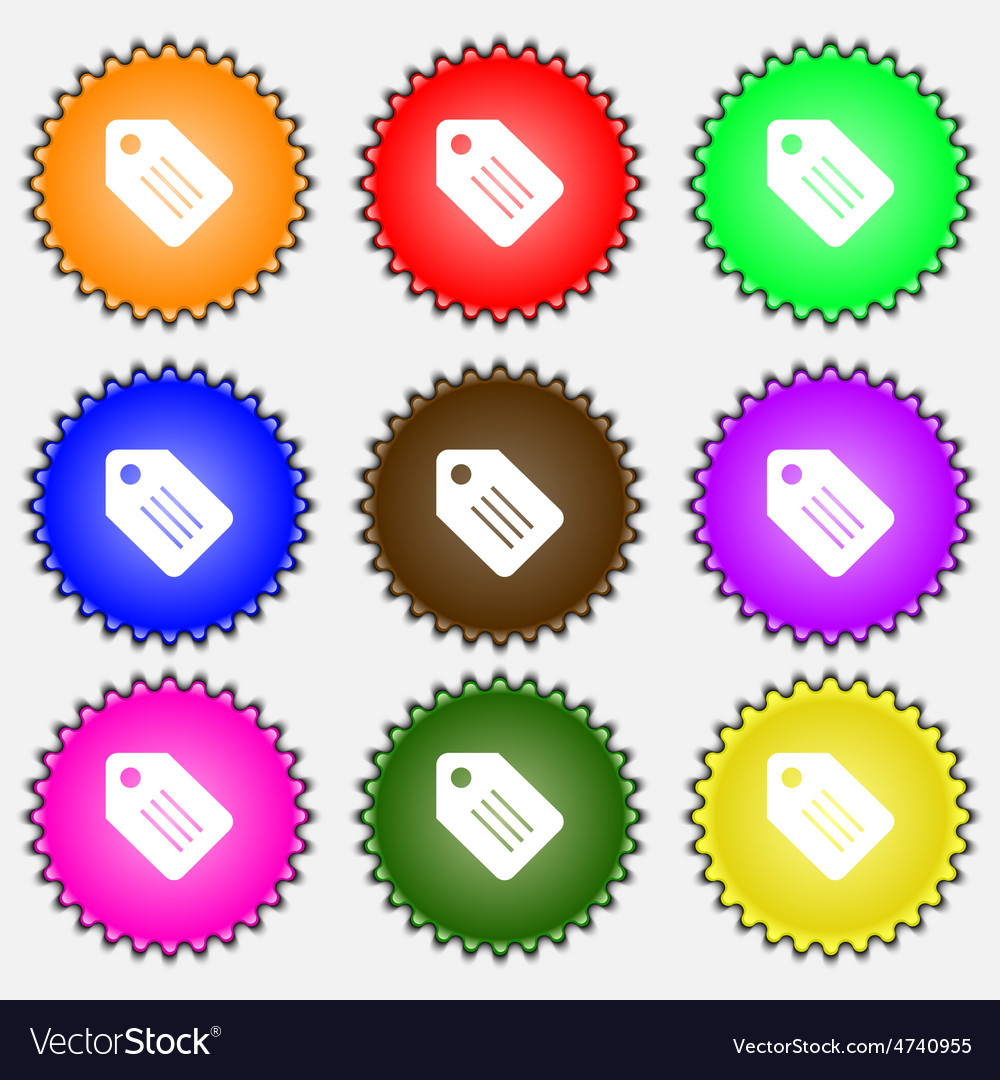 Special offer label icon sign a set of nine vector | Price: 1 Credit (USD $1)