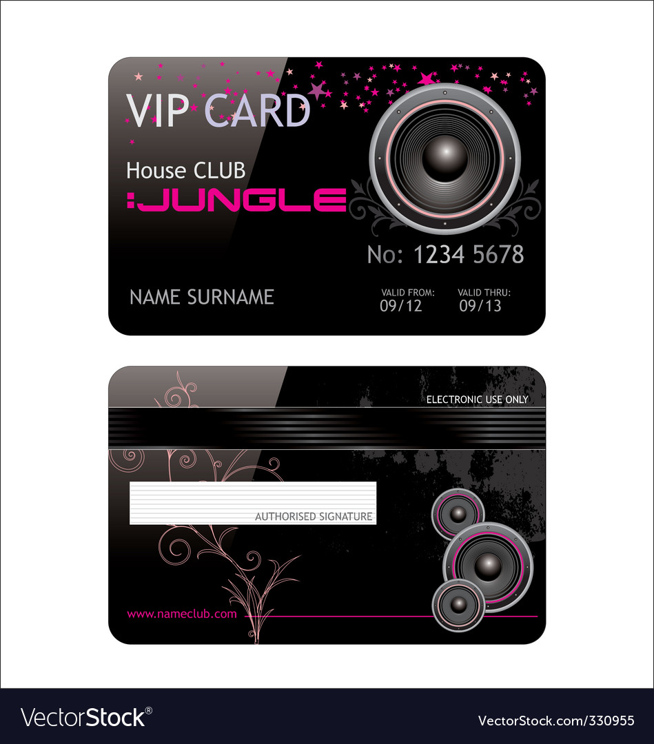 Vip club card vector | Price: 1 Credit (USD $1)