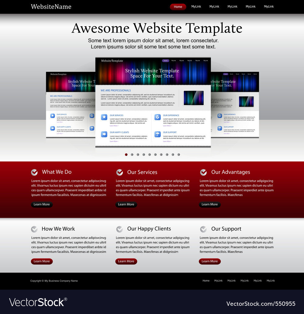 Website template vector | Price: 1 Credit (USD $1)