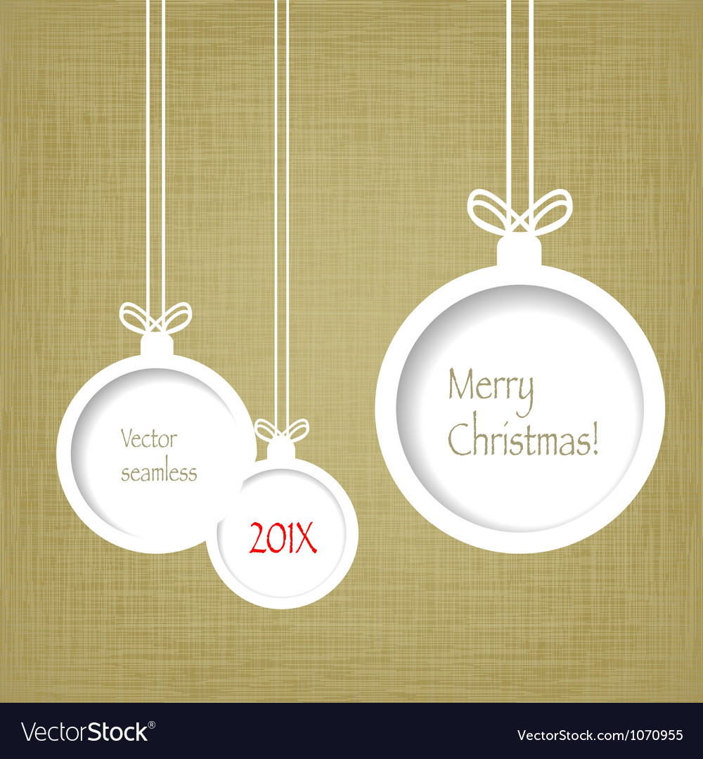 Xmas balls on textured paper vector | Price: 1 Credit (USD $1)
