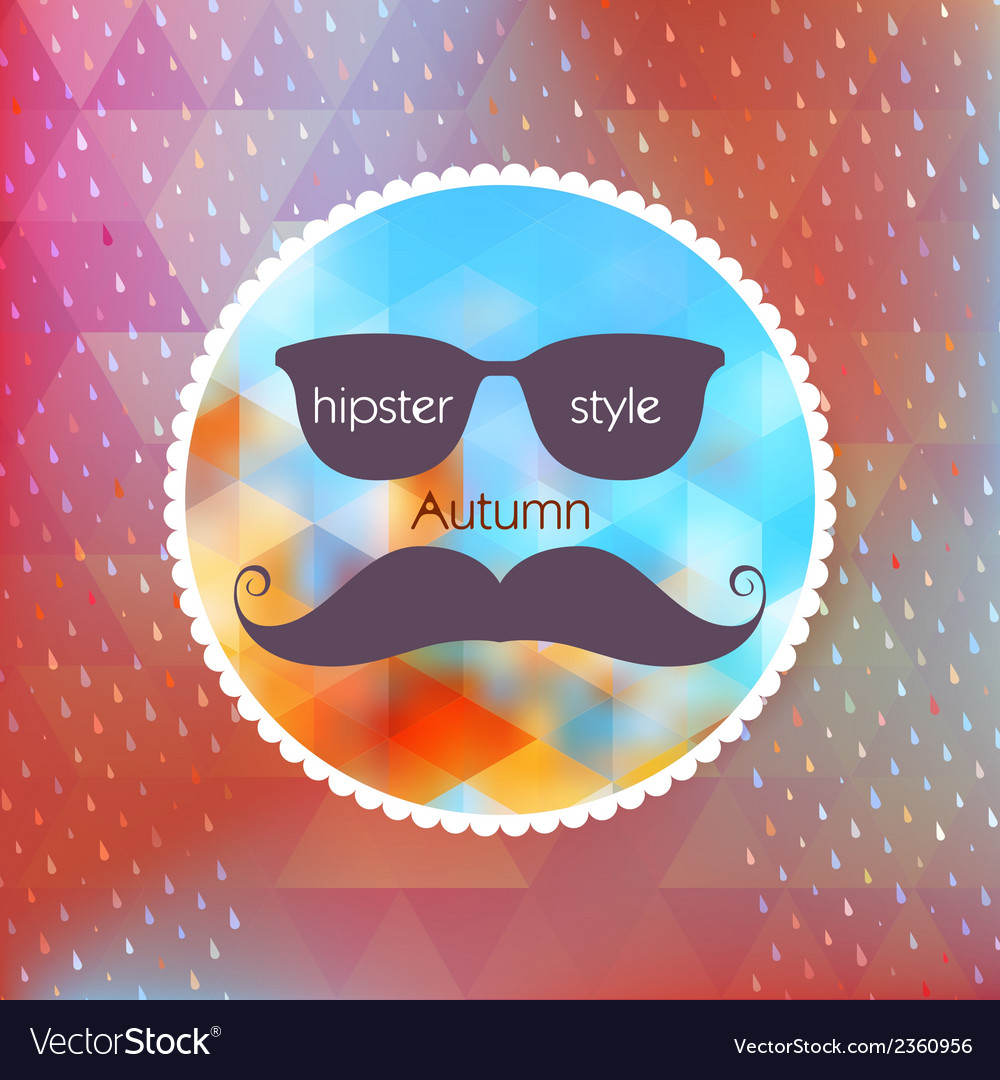 Autumn hipster style mustache and glasses eps 10 vector | Price: 1 Credit (USD $1)