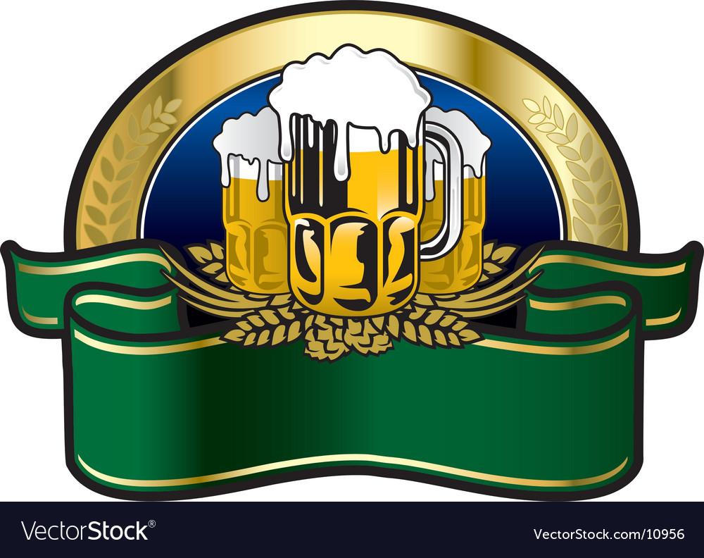 Beer big fest label vector | Price: 3 Credit (USD $3)