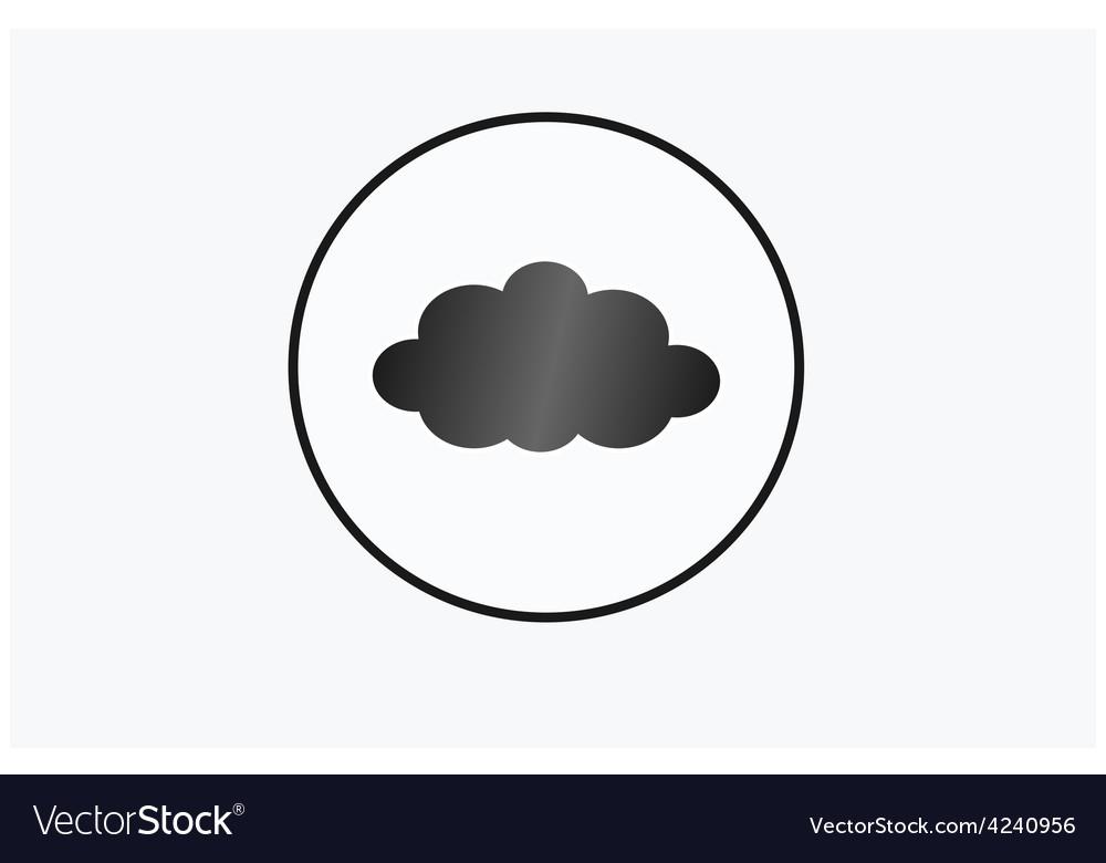 Black cloud circle vector | Price: 1 Credit (USD $1)