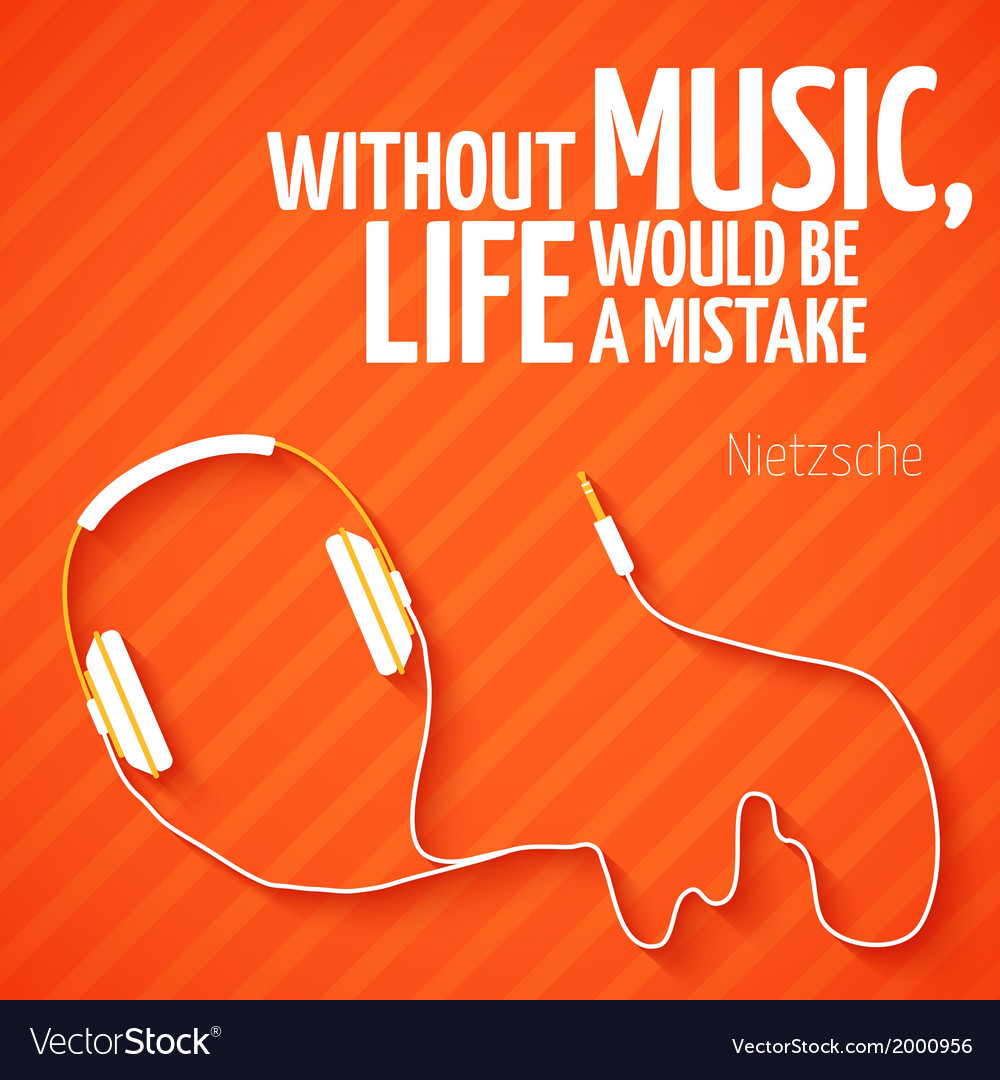Bright headphones music wallpaper background vector | Price: 1 Credit (USD $1)