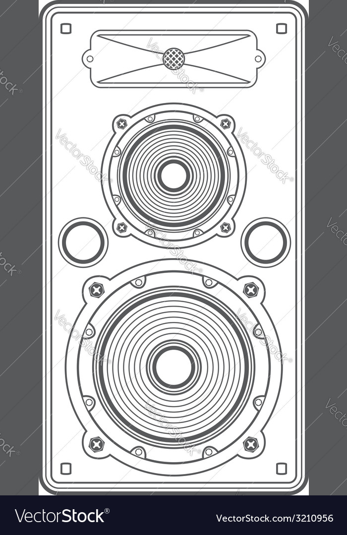 Concert outline speaker vector | Price: 1 Credit (USD $1)