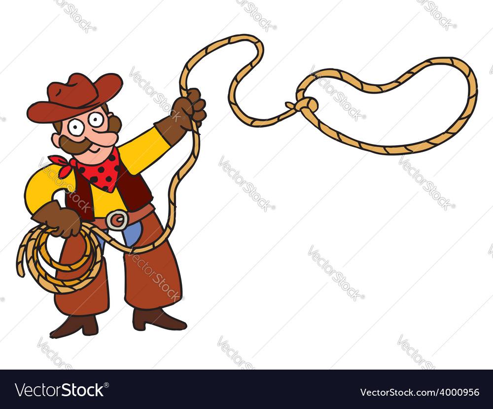 Cowboy with lasso vector | Price: 1 Credit (USD $1)