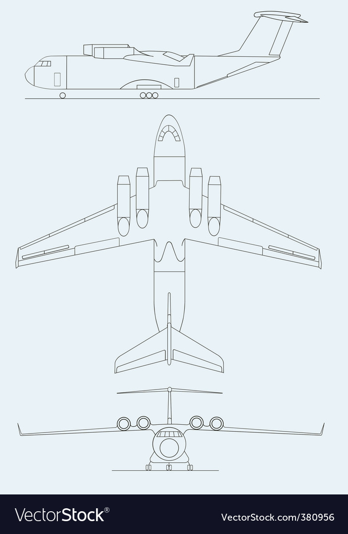 Drawing aircraft vector | Price: 1 Credit (USD $1)