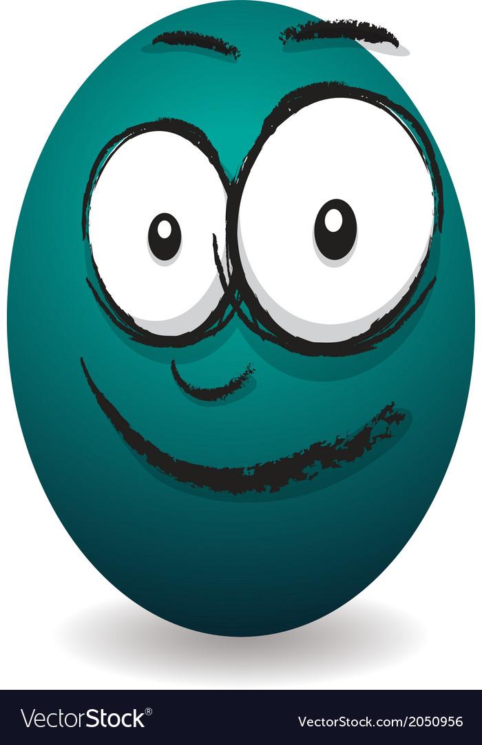Emotions eggs coloured happy vector | Price: 1 Credit (USD $1)