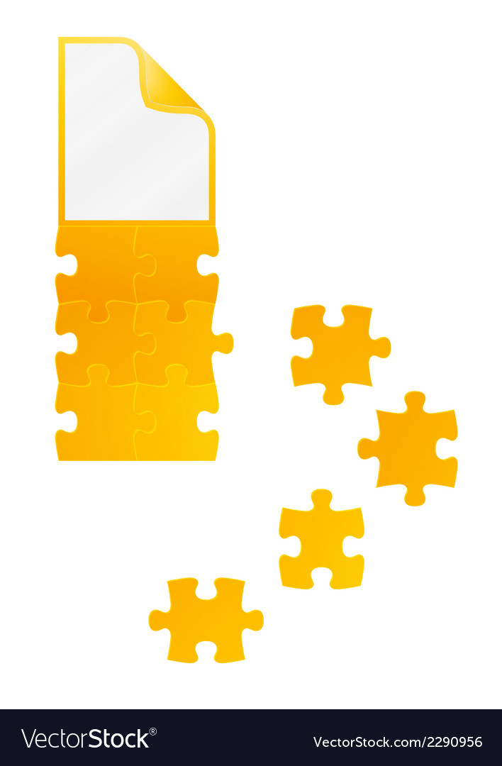 Field of puzzles with paper on the top vector | Price: 1 Credit (USD $1)