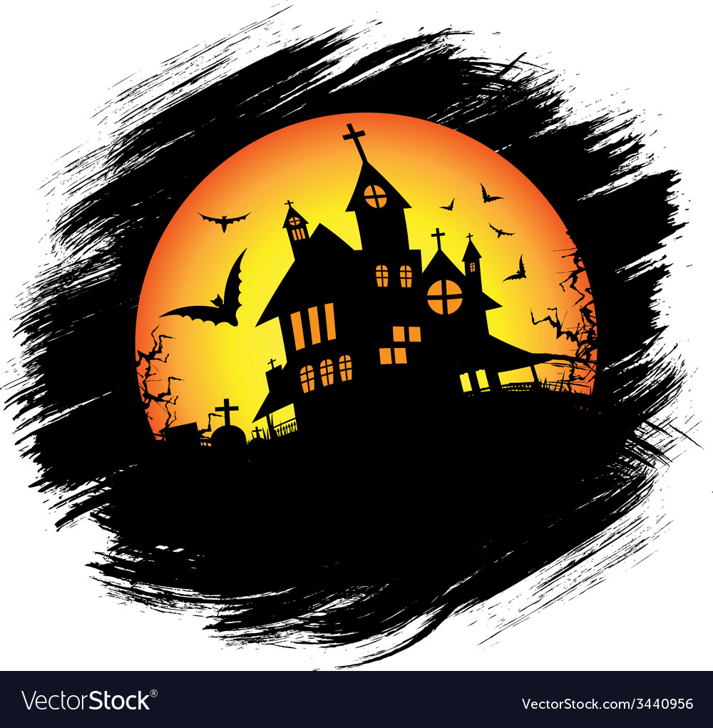 Halloween castle with sun vector | Price: 1 Credit (USD $1)