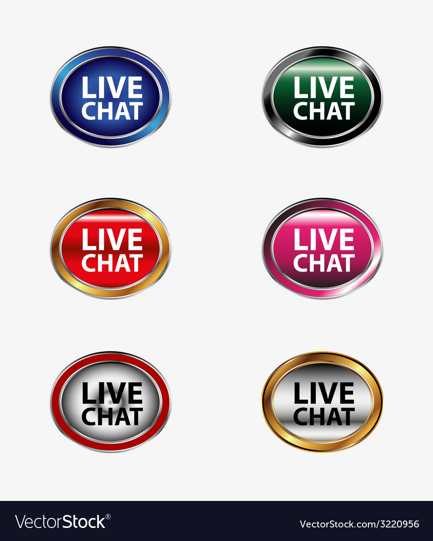 Live chat tag icon set vector | Price: 1 Credit (USD $1)