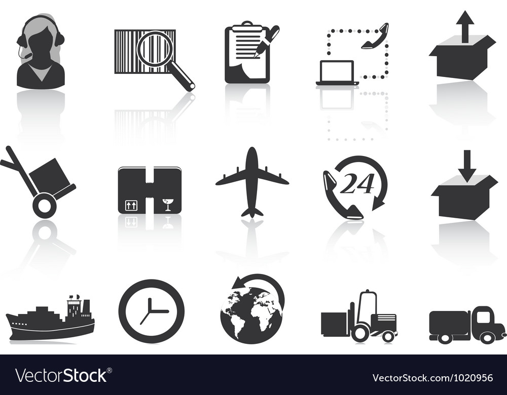 Logistics and shipping icons vector | Price: 1 Credit (USD $1)