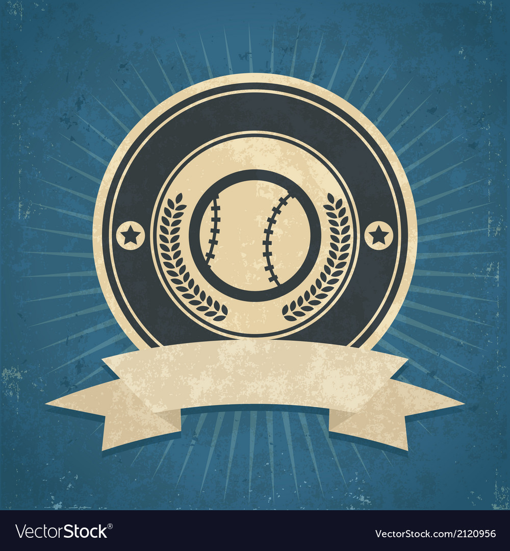 Retro baseball emblem vector | Price: 1 Credit (USD $1)