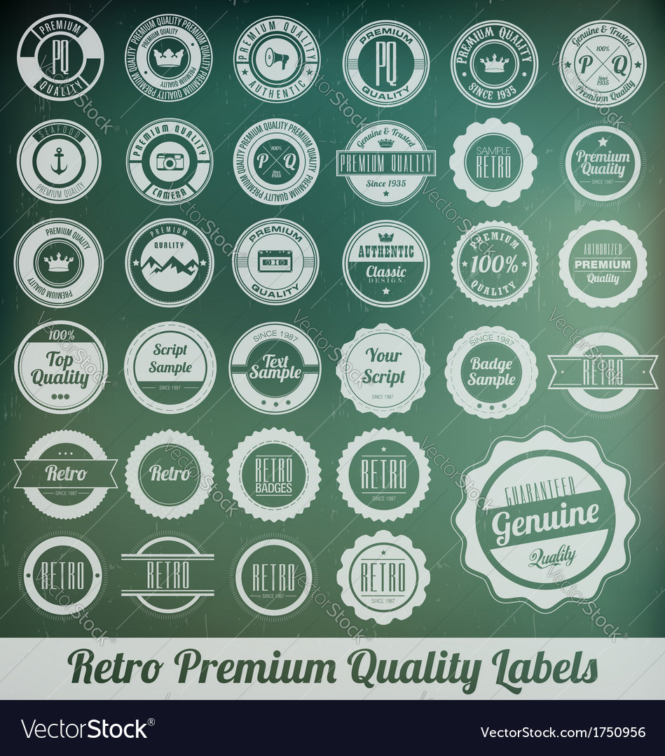 Retro labels vector | Price: 1 Credit (USD $1)