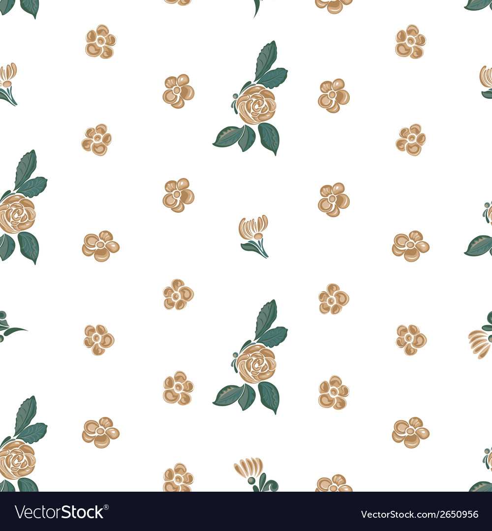 Seamless flower vector | Price: 1 Credit (USD $1)