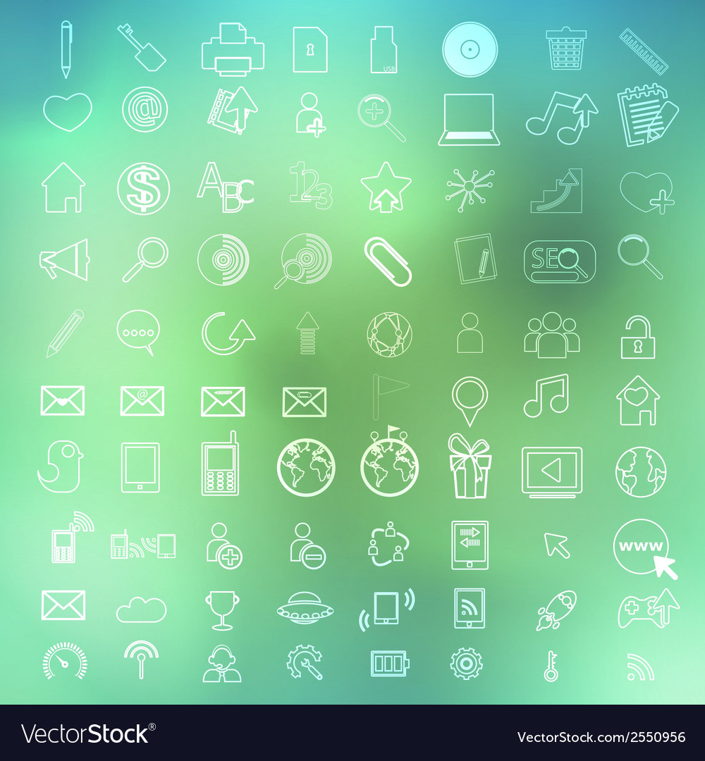 Social color media circles icon on abstract vector | Price: 1 Credit (USD $1)
