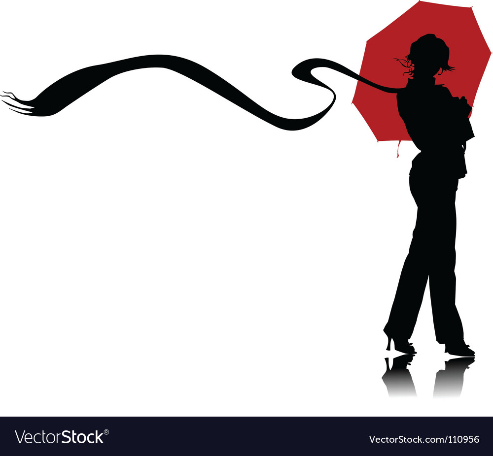 Umbrella and scarf vector | Price: 1 Credit (USD $1)