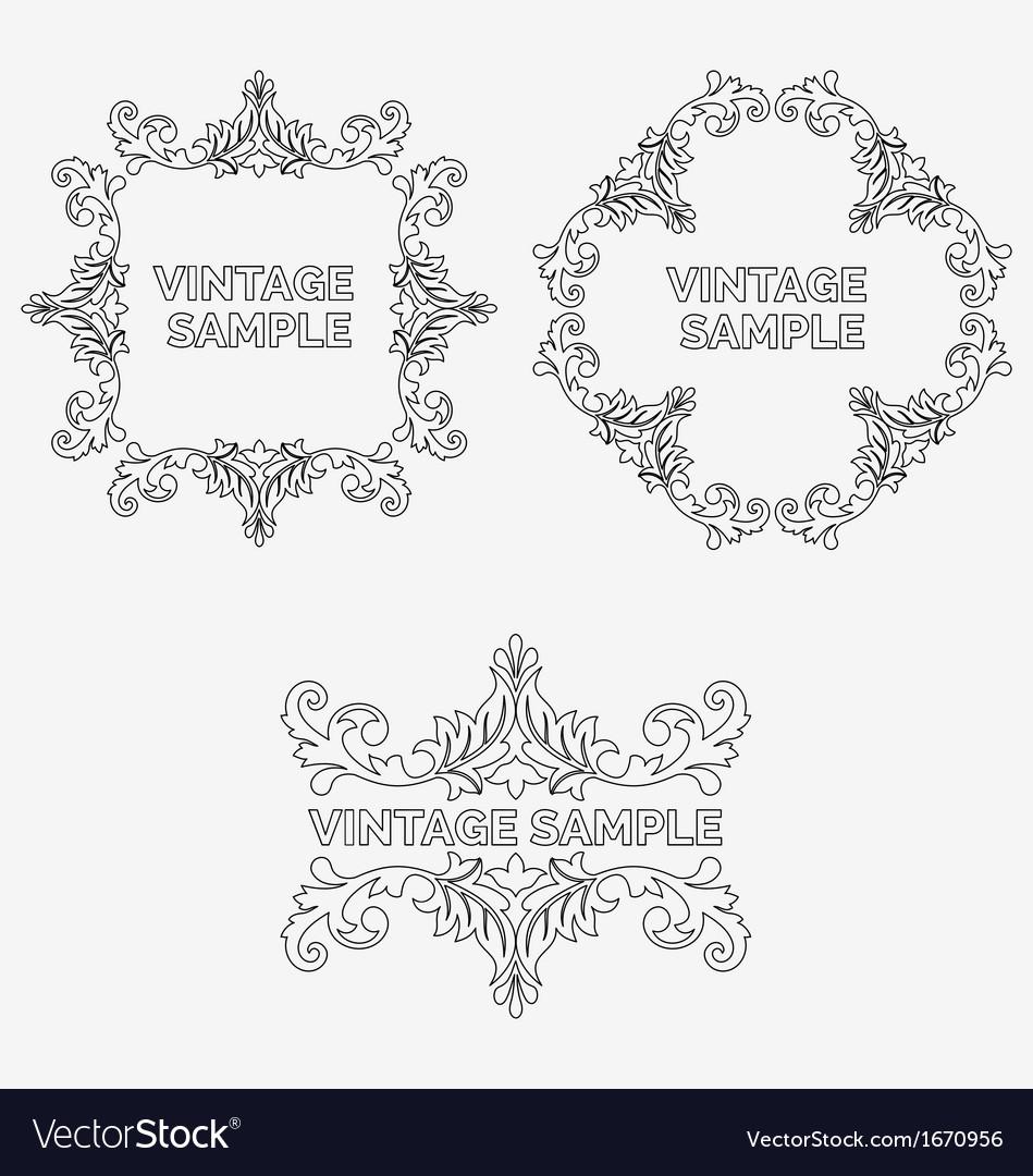 Vintage frames vector | Price: 1 Credit (USD $1)