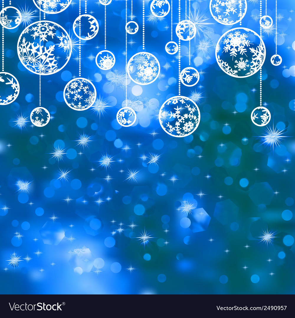 Elegant blue christmas background eps 8 vector | Price: 1 Credit (USD $1)