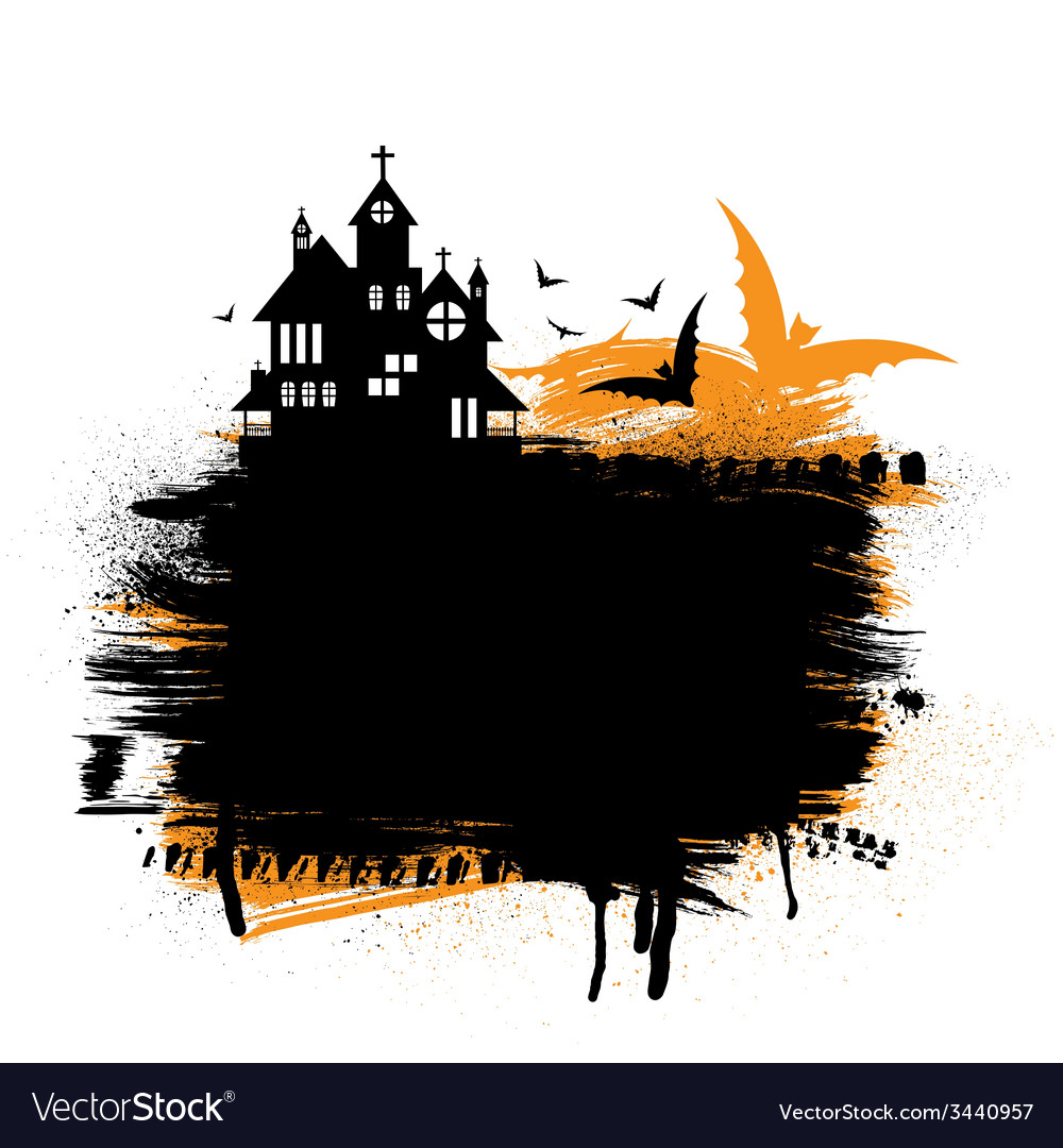 Halloween castle vector | Price: 1 Credit (USD $1)