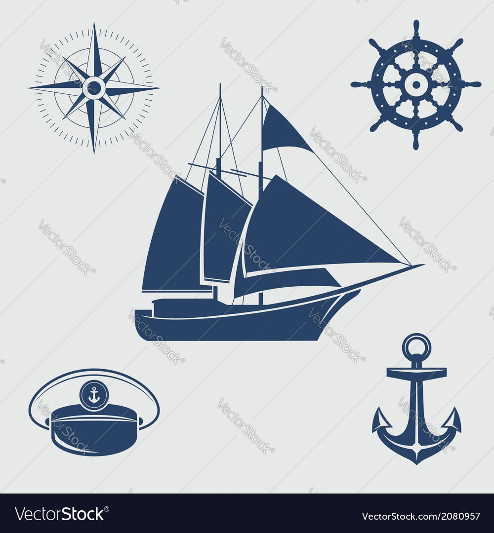 Nautical symbols vector | Price: 1 Credit (USD $1)