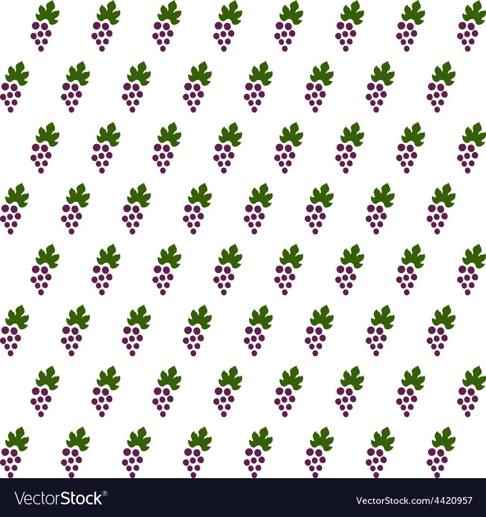 Sample seamless grape vines background vector | Price: 1 Credit (USD $1)
