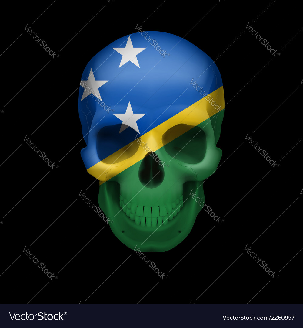 Solomon islands flag skull vector | Price: 1 Credit (USD $1)