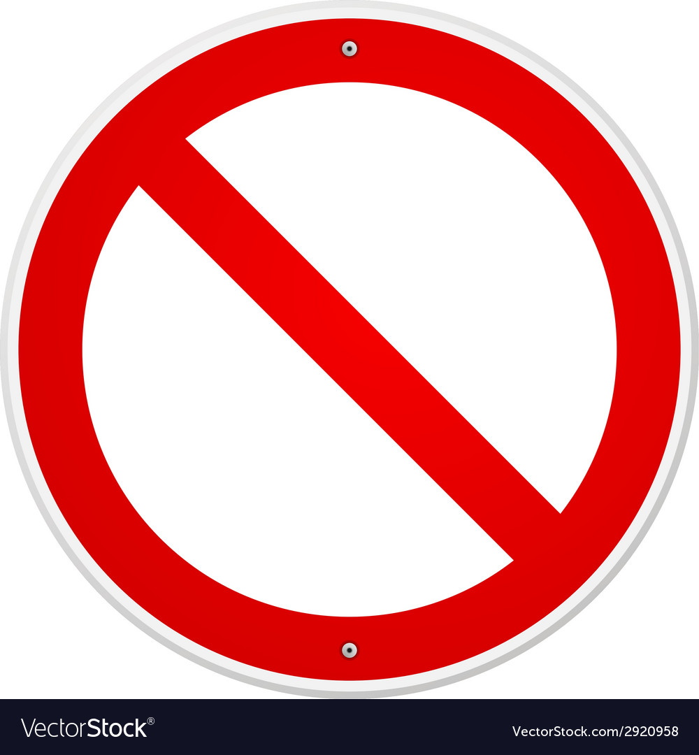 Blank forbidden sign vector | Price: 1 Credit (USD $1)