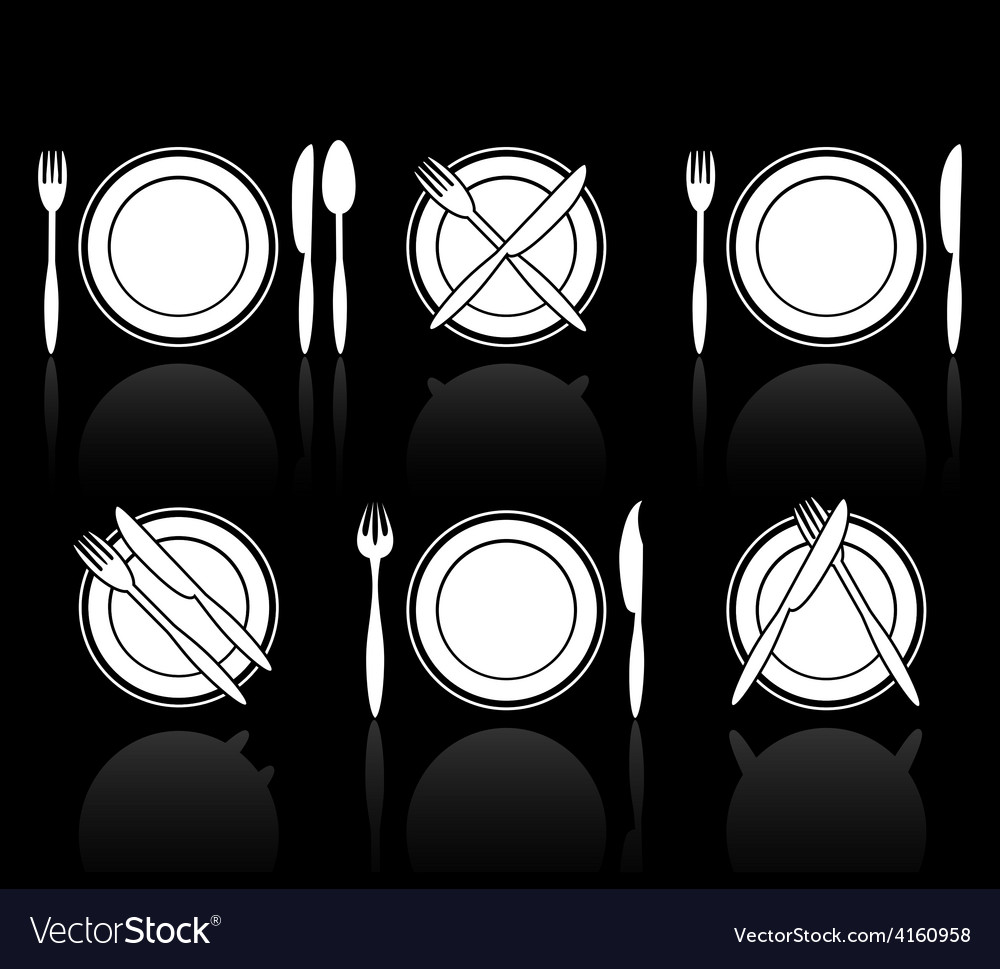 Fork knife and spoon icons vector | Price: 1 Credit (USD $1)