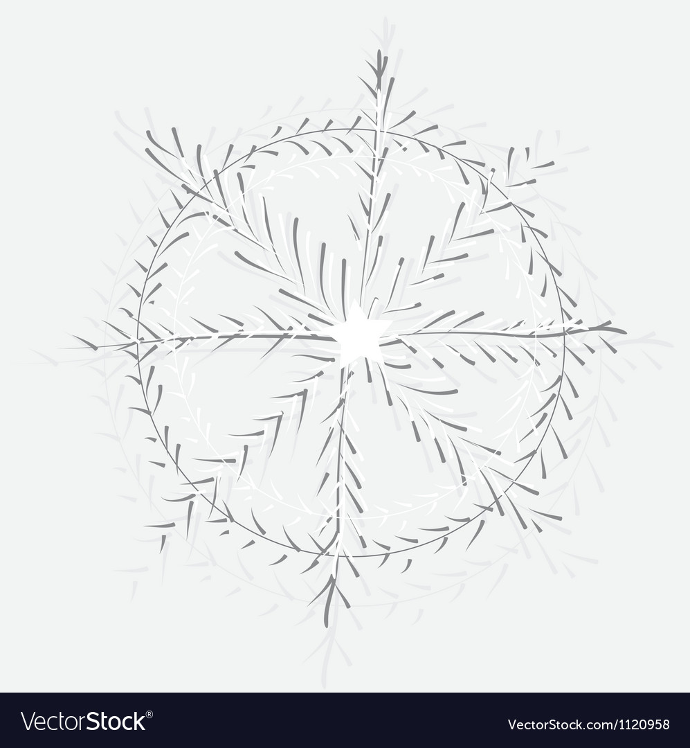 Large snowflake vector