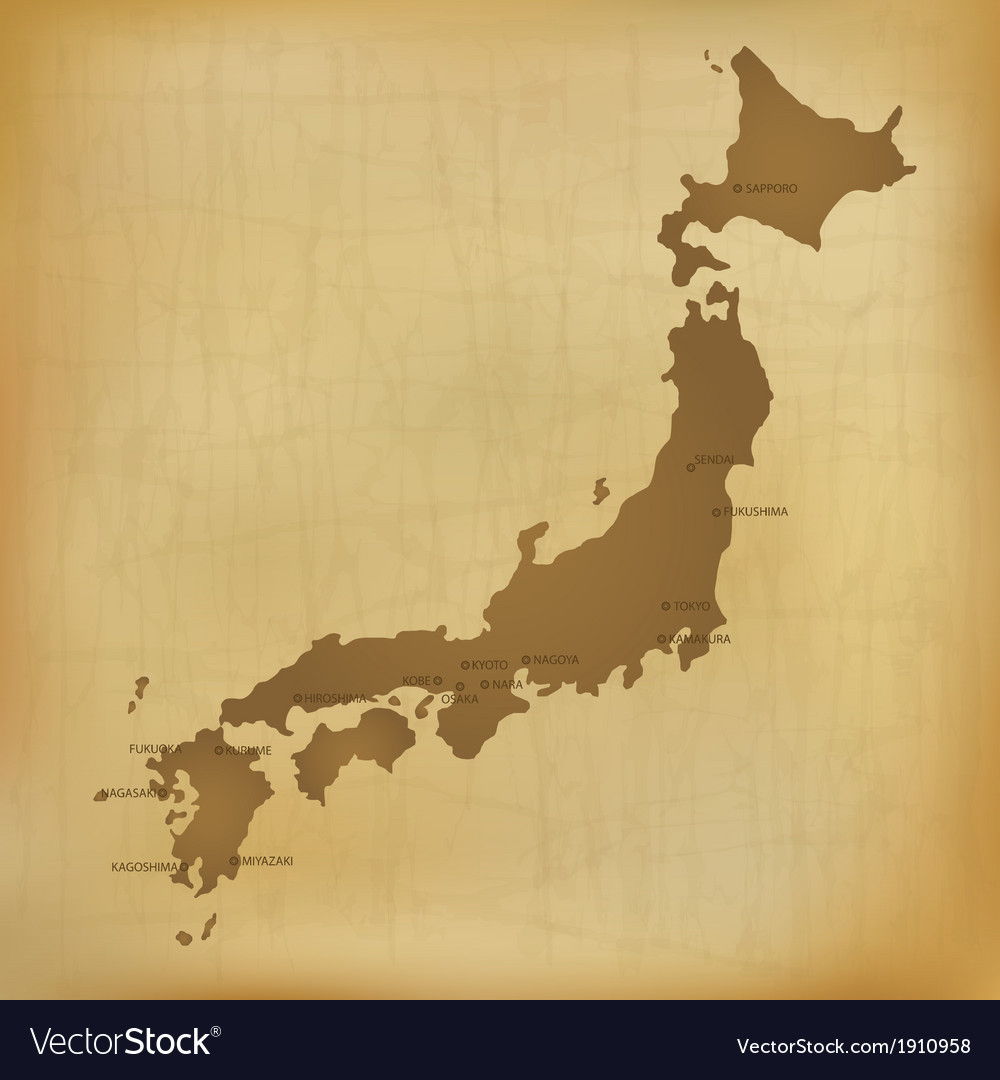 Old japan map vector | Price: 1 Credit (USD $1)