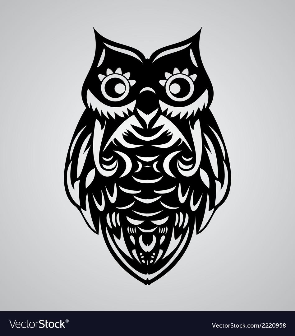 Owl bird vector | Price: 1 Credit (USD $1)