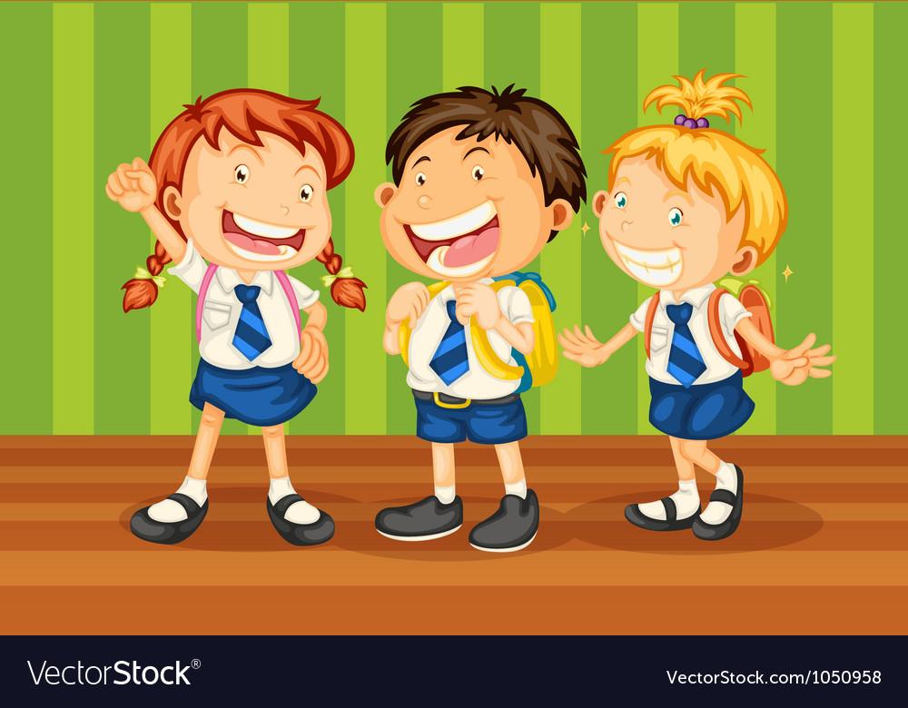 School kids vector | Price: 3 Credit (USD $3)