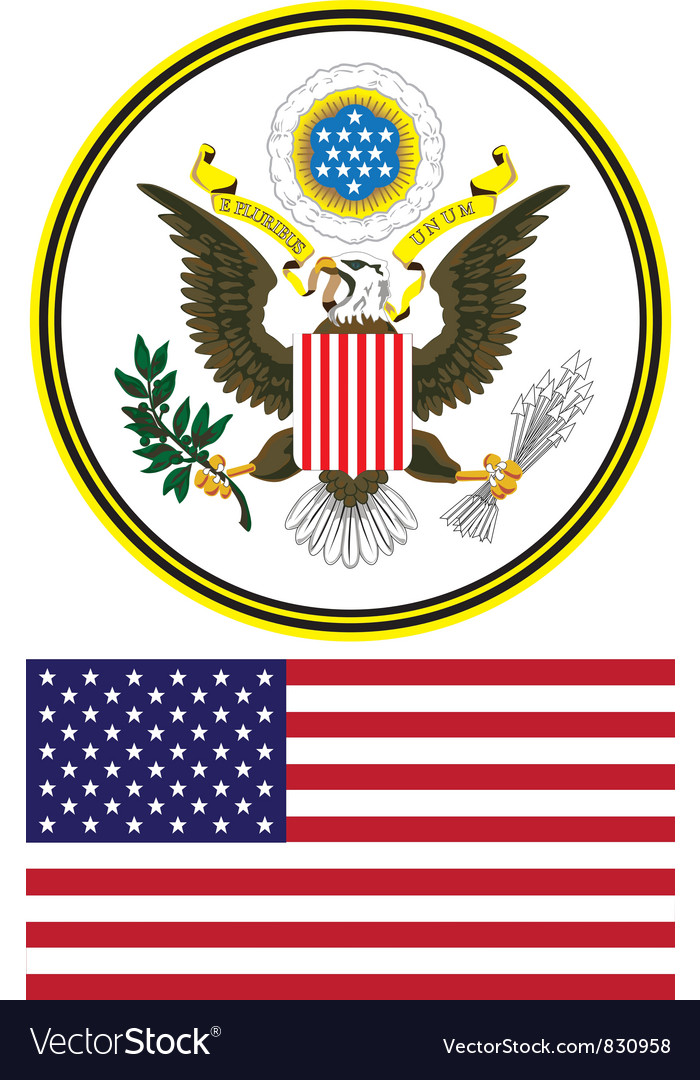 Seal and flag of the united states vector | Price: 1 Credit (USD $1)