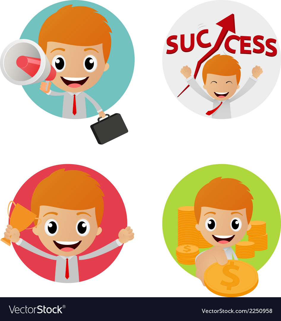 Set of funny character on business concept vector | Price: 1 Credit (USD $1)