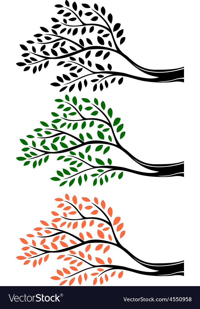 Tree branch silhouette vector | Price: 1 Credit (USD $1)