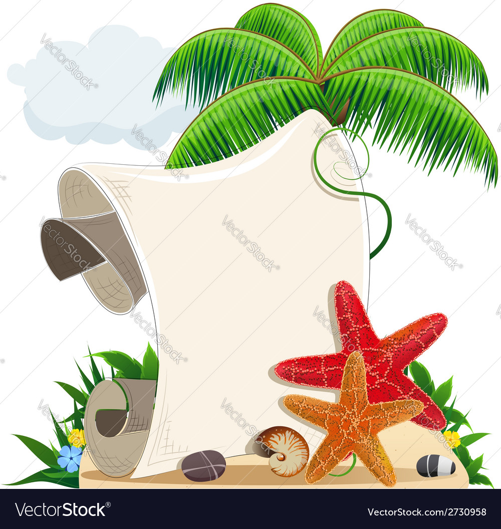 Tropical island vector | Price: 1 Credit (USD $1)