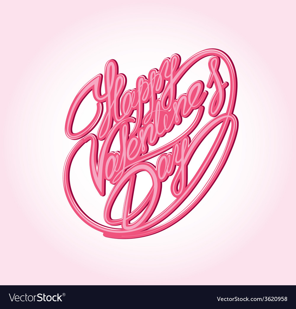 Valentine day calligraphy vector | Price: 1 Credit (USD $1)