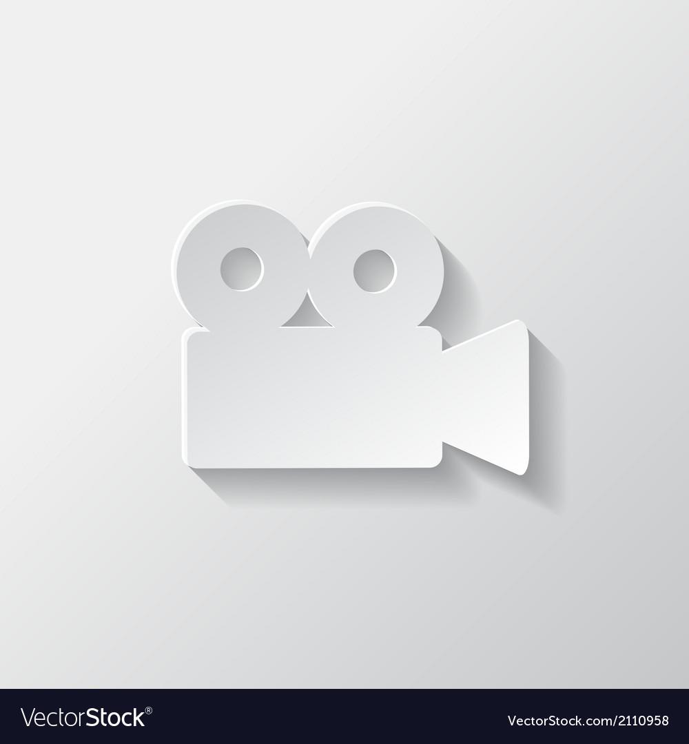 Video camera web icon cinema symbol vector | Price: 1 Credit (USD $1)
